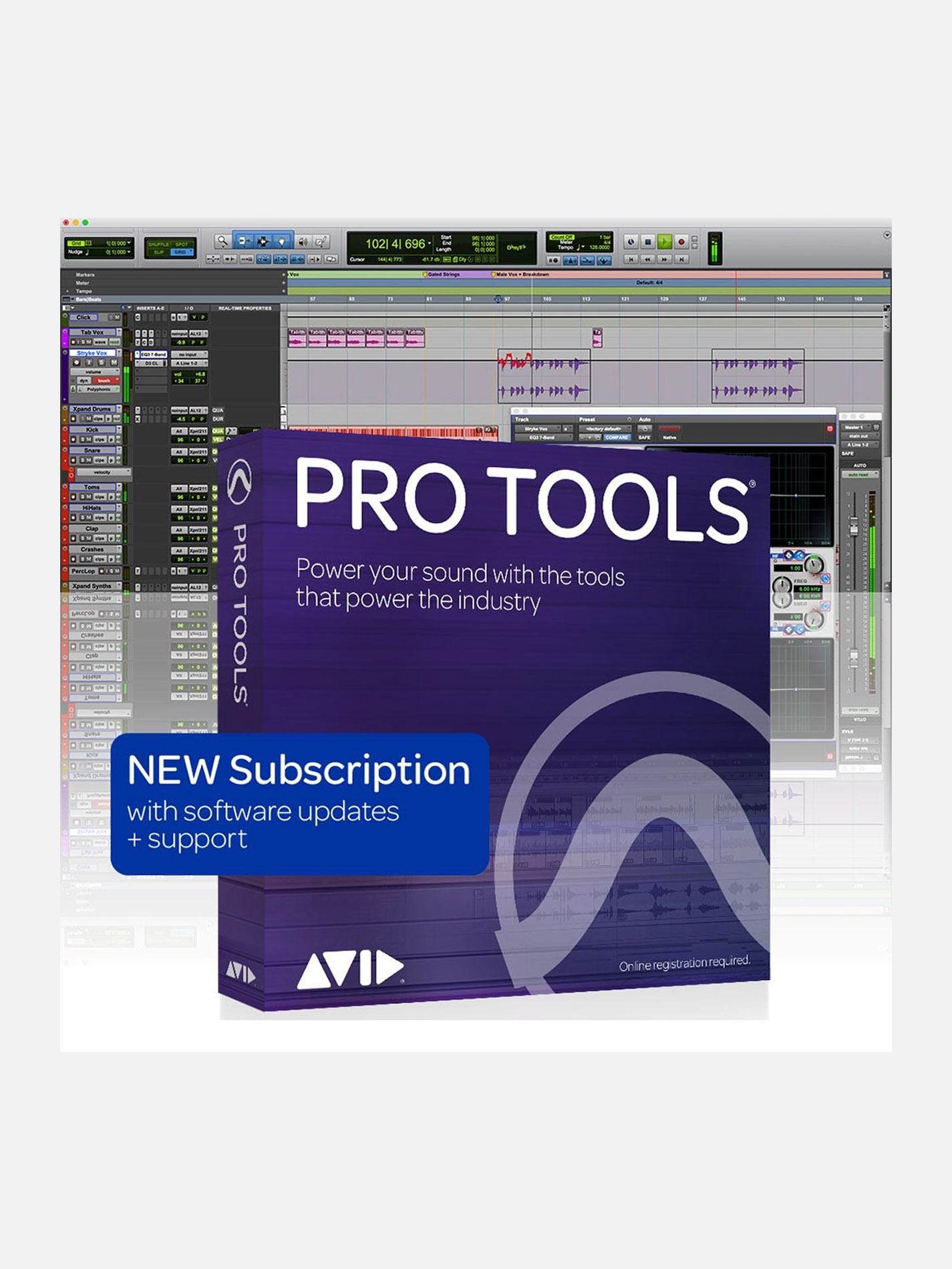 AVID – PRO TOOLS SOTTOSCRIZIONE ANNUALE (1-Year Subscription)