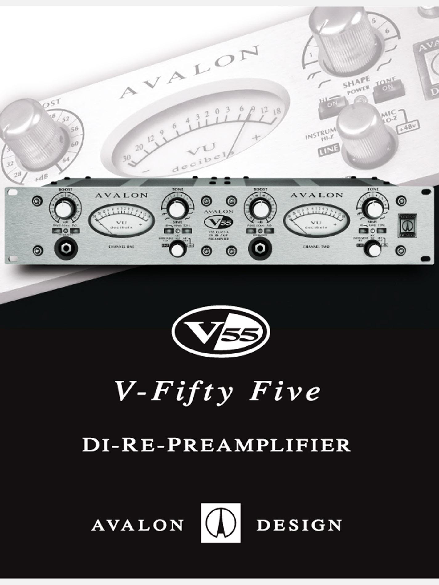 AVALON – V55 Stereo Preamp